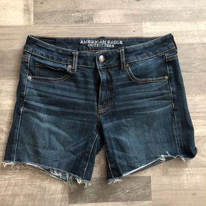 American Eagle Super Stretch Midi Jean Shorts 6